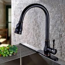 kitchen gooseneck automatic faucet china kitchen antique black 1 lever pull out sprayer single hole gooseneck kitchen