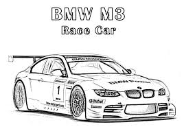 coloring pages pages download bmw m3 race car
