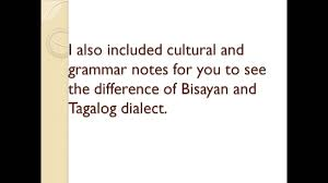 bisayan cebuano intro for course 1 elaic tagalog filipino and