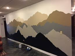 the alaskan muse diy mountain mural and to think i could wasted my time creating an additional layer of mountain ranges oh well i guess i ll just have to finish this mural so i can make it