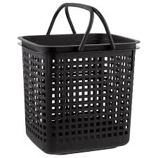 black cestino stackable storage baskets with handles the