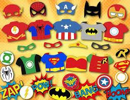 Superhero Photo Booth Printable Superhero Photo Booth Props Super Hero Digital