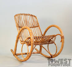 Bamboo Rocking Chair Bamboo Rocking Chair 1950 U0027s 19 West