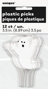 plastic ghost halloween cupcake toppers 12 count walmart com