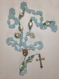 birthstone rosary custom march birthstone rosary op 23 flower of rosaries