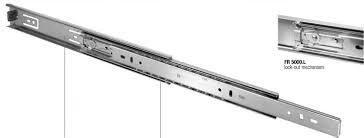 drawer slide locking mechanism 22 extension slide hold out zinc fr5000 l 400205