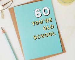 60th birthday card etsy