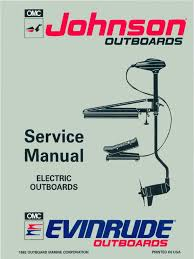 1993 johnson evinrude et electric outboards service manual pn