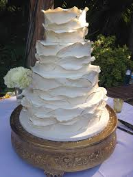 Ivory And Gold Painted Wedding Cake A Sweet Design