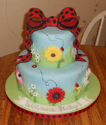 baby shower cake ladybug theme cakecentral com