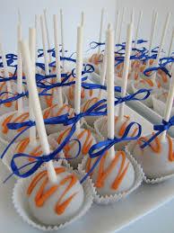 orange and blue cake pops blue u0026 orange graduation party