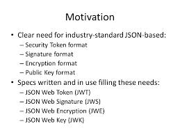 Architect Signature Proposed Documents For Jose Json Web Signature Jws Json Web