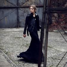 αποτέλεσμα εικόνας για maxi winter dresses οoutfits total black