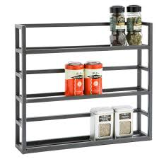 Spice Rack Plans Spice Cabinet Wall Mount Stainless Steel Kitchen Spice Shelf Rack