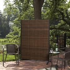 privacy screen room divider versare outdoor wicker resin room divider hayneedle