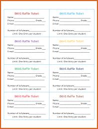 how to make raffle tickets resume name