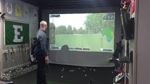 golf simulator home theater golf simulator youtube