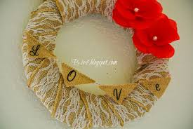 b is 4 diy mother s day burlap lace wreath mom s gift home decor crafts