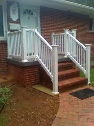vinyl stair railing deck durable and affordable vinyl stair