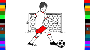 soccer coloring page art of colour for children youtube