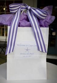 hotel gift bags for wedding guests out of town welcome gifts the pink polka dot cape cod wedding