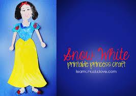 printable princess craft snow white