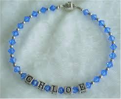 Baby Name Bracelet Mother Bracelets Baby Bracelets Name Bracelets Birth Stone
