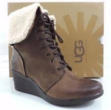 s wedge boots australia ugg australia wedge lace up solid boots for ebay