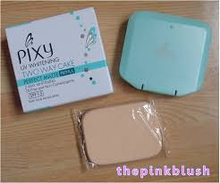 Bedak Pixy Compact Powder Finish uv whitening the pink blush
