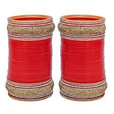 buy lucky jewellery designer color bridal punjabi choora