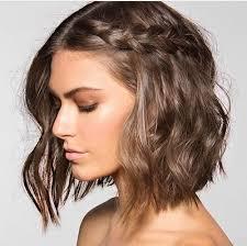 wavy lob haircut tutorial long bob with a cute little braid hair tutorials pinterest