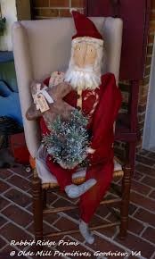 116 best primitive santas images on pinterest primitive santa