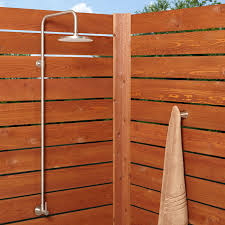 Teak Outdoor Shower Enclosure by Outdoor Showers Pool Showers Shower Kits Signature Hardware