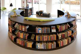 Library Design Bci Steel Radius Shelving Great For Modern Library Design