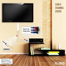 home theater wire concealment amazon com tv cable management organizer raceway wire cover for a