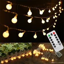 100 ft outdoor string lights full outdoor globe string lights 16 feet 50 led 8 modes battery