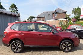 subaru forester red 2017 used 2017 subaru forester 2 0i xe premium for sale in west sussex