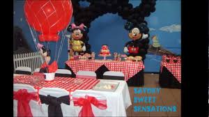 Mickey Mouse Table And Chairs by Mickey Mouse Cake And Table Setting Youtube