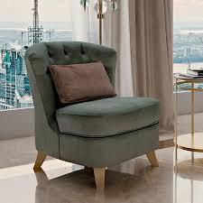 italian designer button upholstered art deco inspired chair