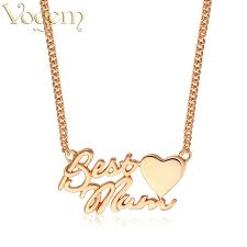 custom heart necklace vogem necklace gold silver stainless steel personalized letter