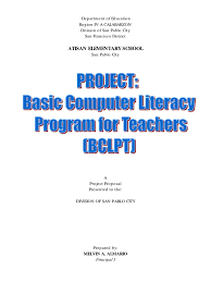 sample narrative report for preschool project proposal computer literacy program educational project proposal computer literacy program educational technology teachers