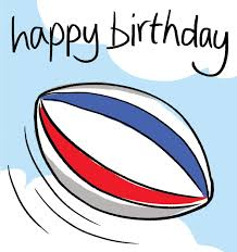 happy birthday rugbyball cards galore