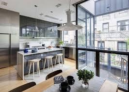 cuisine ouverte moderne modele de cuisine ouverte sur salle a manger ide et concept