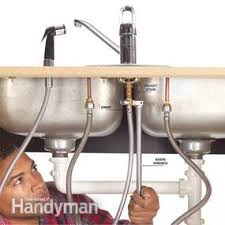how to fix a faucet kitchen how to fix a leaking sink sprayer family handyman