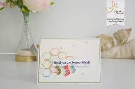 christmas hexagon card u2013 inspired by stamping
