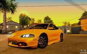 mitsubishi eclipse yellow mitsubishi eclipse gsx mk ii 1999 for gta san andreas