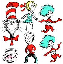 dr seuss assorted gift wrapping paper eureka dr seuss one fish two fish assorted 5 inch