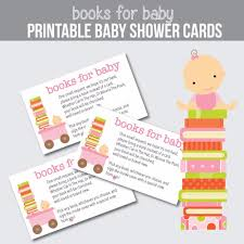 printable pink baby bring a book instead of a card baby