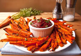 healthy baked carrot fries 2teaspoons