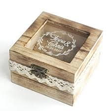 ring holder for wedding personalized wooden wedding ring box rustic wedding